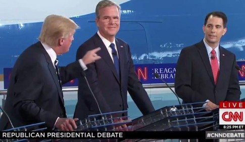 trump takes down walker at cnn debate
